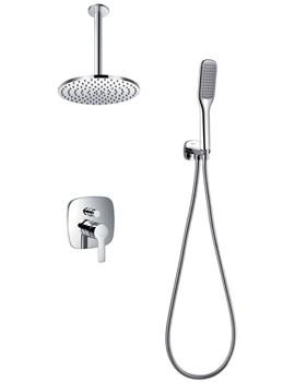 Flova Urban Manual Valve With Diverter-Shower Head And Handset Kit