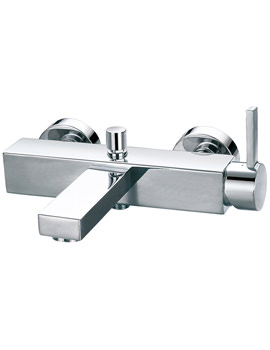 Str8 Wall Or Deck Mounted Bath-Shower Mixer Tap With Handset And Hose