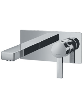 Str8 Wall Mounted Basin Mixer Tap With Clicker Waste