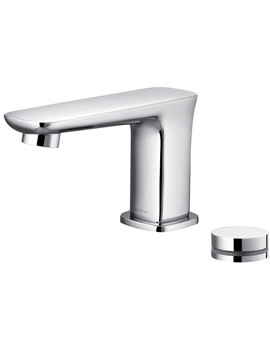 Urban Electronic Basin Mixer Tap With Clicker Waste And Control Box