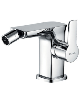 Urban Deck Mounted Bidet Mixer Tap With Clicker Waste