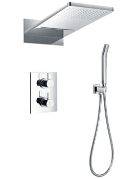 Str8 Thermostatic Valve With Diverter-Dual Overhead Shower And Kit