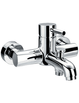 Related Flova Levo Wall Or Deck Mounted Bath-Shower Mixer Tap With Kit