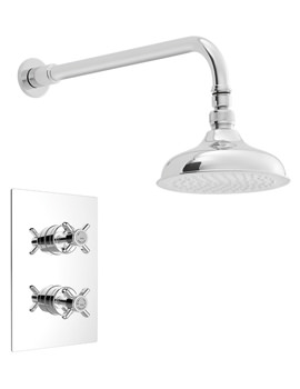 Dawlish Chrome Recessed Thermostatic Valve With Fixed Head