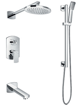 Dekka Manual Complete Shower Set With Bath Spout