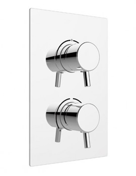 Related Heritage Orbit Chrome Dual Control Recessed Thermostatic Shower Valve