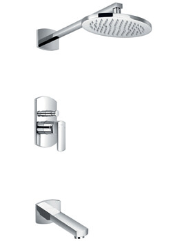 Dekka Manual Valve With Diverter - Spout And Overhead Shower