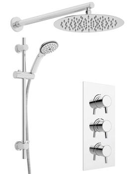 Related Heritage Orbit Dual Control Recessed Valve With Fixed Head And Shower Kit