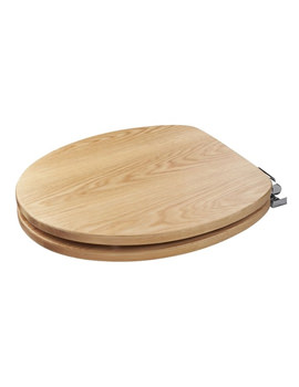Croydex Fitzroy Solid Oak Soft Close Toilet Seat - WL531276H