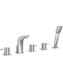 Flova Essence 5 Hole Bath-Shower Mixer Tap With Handset And Hose