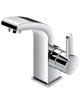 Flova Essence Cloakroom Basin Mixer Tap With Clicker Waste