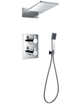 Essence Thermostatic Valve With Diverter-Dual Overhead Shower And Kit
