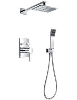 Essence Manual Valve With Diverter-Overhead Shower And Handset Kit