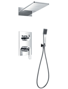 Flova Essence Manual Valve With Diverter-Dual Overhead Shower And Kit