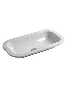 Glaze 690 x 380mm No Tap Hole Inset Countertop Washbasin White