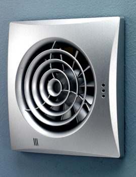 Hush Matt Silver Fan With Timer And Humidity Sensor - 31800