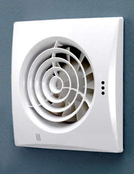 Hush Wall Mounted White Extractor Fan With Timer And Humidity Sensor