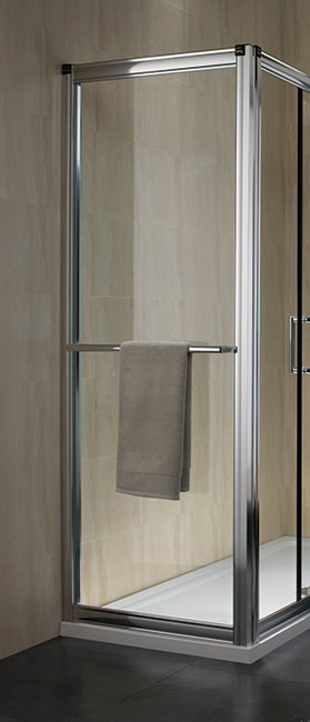 Large Image of Twyford Hydr8 Shower Enclosure Side Panel 700mm - H82400CP