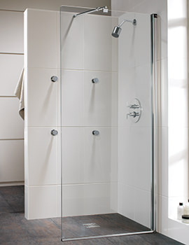 Twyford Hydr8 Walk In Flat Glass Shower Panel 900mm - H85950CP