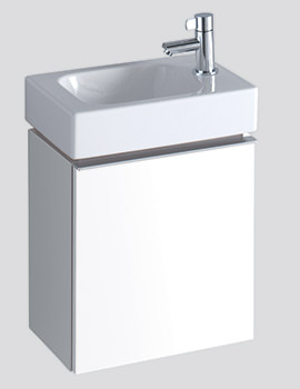 Twyford 3D 380mm Handrinse Basin And Alpine White Vanity Unit