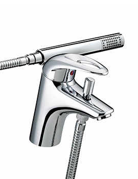 Java 1 Hole Bath Shower Mixer Tap With Kit - J 1HBSM C