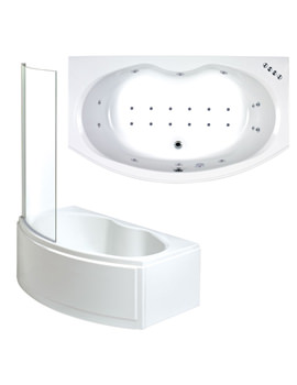 Napoli Whirlpool And Airpool Shower Bath With Screen