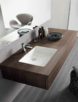 Delos Console With Drawer For Undercounter Basin [4 Options] - DL6991L6969