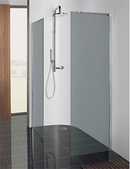 Image of Simpsons Design Semi Frame-less Walk In Panel 600mm - DSPSC0600