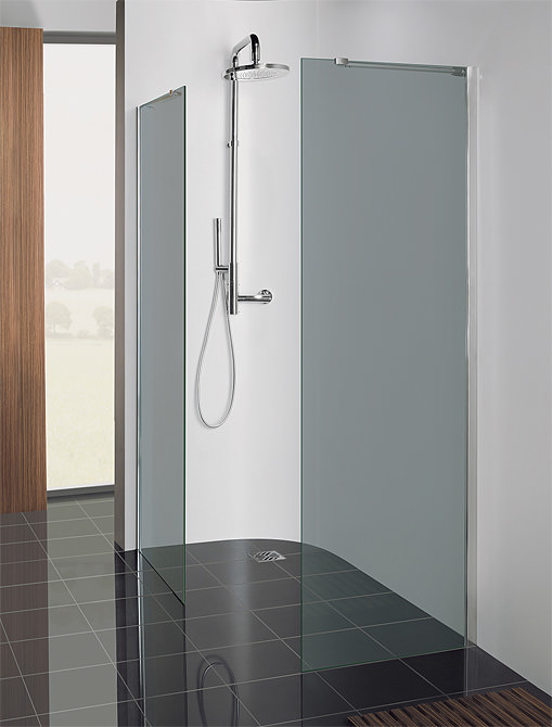 Large Image of Simpsons Design Semi Frame-less Walk In Panel 600mm - DSPSC0600