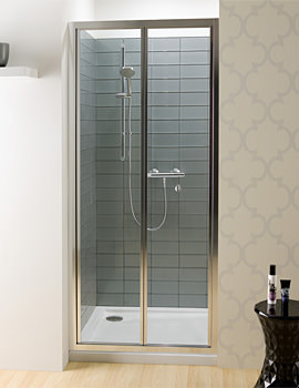 Edge Bi-fold Shower Door 900mm - EBFSC0900