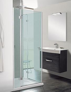 Design Semi Frame-less Corner Entry Enclosure 900mm