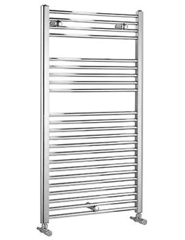Biasi Dolomite Chrome Straight Heated Towel Rail 600 x 1600mm