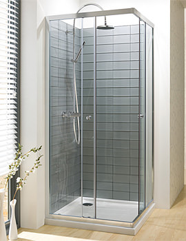 Edge Corner Entry Shower Enclosure 760mm - ECESC0760