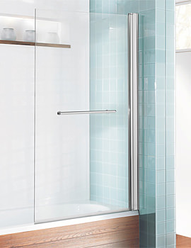Design Semi Frame-less Single Bath Screen With Towel Rail