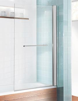 Design Semi Frame-less Single Bath Screen With Towel Rail