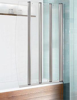 Simpsons Edge Foldaway Bath Screen 830mm - EFBSC0865