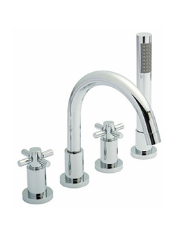 Tec Crosshead 4 Hole Bath Mixer Tap With Kit - TEX334