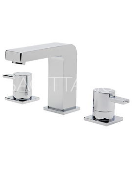 Related Sagittarius Evolution 3 Hole Basin Mixer Tap Chrome With Waste