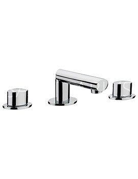 Related Sagittarius Oveta 3 Hole Deck Mounted Basin Mixer Tap With Sprung Waste