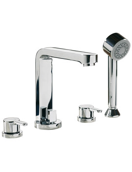 Sagittarius Plaza 4 Hole Deck Mounted Bath Shower Mixer Tap