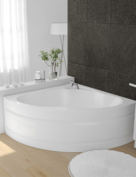 Beo Lagoon 5mm Acrylic Corner Bath 1450 x 1450mm White