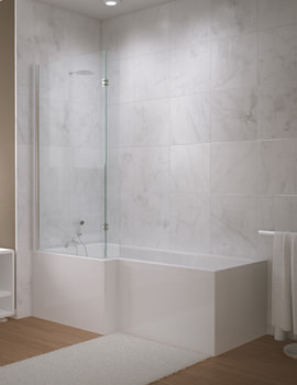Related Beo Paramount 5mm Acrylic L Shaped Shower Bath 1675 x 850-700mm
