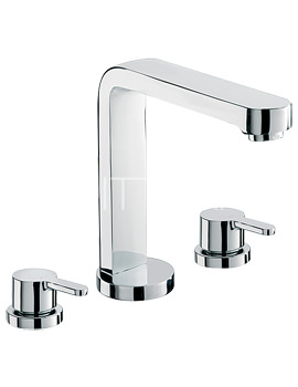 Sagittarius Plaza 3 Hole Deck Mounted Bath Filler Tap - PL-111-C