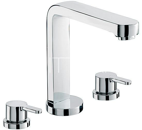 Large Image of Sagittarius Plaza 3 Hole Deck Mounted Bath Filler Tap - PL-111-C