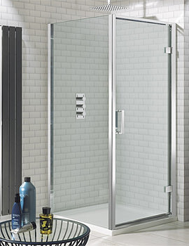Elite Framed Hinged Shower Door 1000mm - LHDSC1000