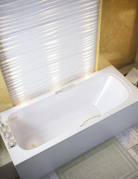 Beo Celcius 5mm Acrylic Single Ended Bath With Grips 1675 x 700mm