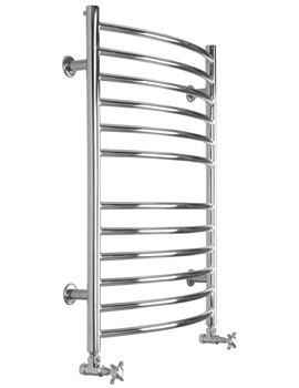 Midi Curve Dual Fuel Towel Radiator 600 x 810mm - SS202