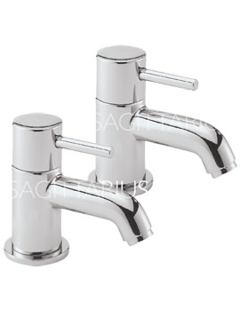 Related Sagittarius Ergo Lever Pair Of Basin Taps Chrome