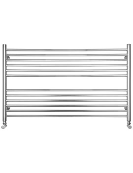 Compact Wide Dual Fuel Heated Towel Radiator 1000 x 600mm