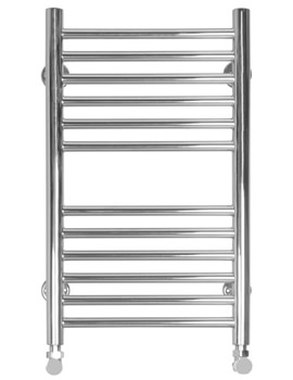 Compact Slim Flat Dual Fuel Towel Radiator 360 x 600mm - SS605